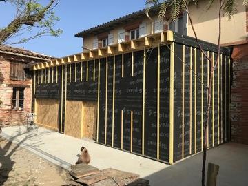 construction type ossature bois - maisons et extensions